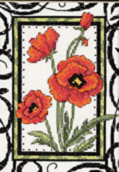 Blooming Poppies Cross Stitch Kit